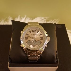Reaction by Kenneth Cole Silver Men's Watch